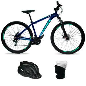 bicicleta-gw-zebra-revoshift-azul-petroleo-verde-menta-casco-cuello