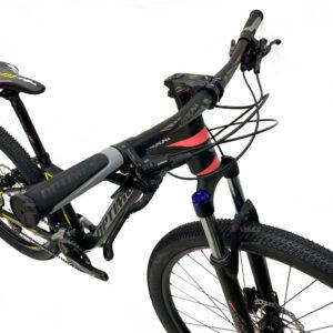 bicicleta-optimus-koruna-negro-amarillo-rosado-frenos