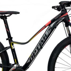 bicicleta-optimus-koruna-negro-amarillo-rosado-marco