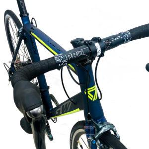 bicicleta-gw-flamma-ruta-2021-azul-petroleo-amarillo-neon-manubrio