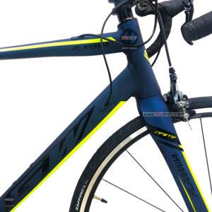 bicicleta-gw-flamma-ruta-2021-azul-petroleo-amarillo-neon-marco