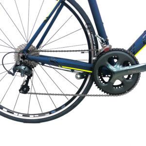 bicicleta-gw-flamma-ruta-2021-azul-petroleo-amarillo-neon-tiagra
