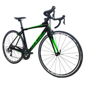 bicicleta-gw-flamma-ruta-2021-negro-verde-oblicua